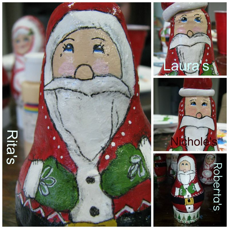 Santa ornament collage 3